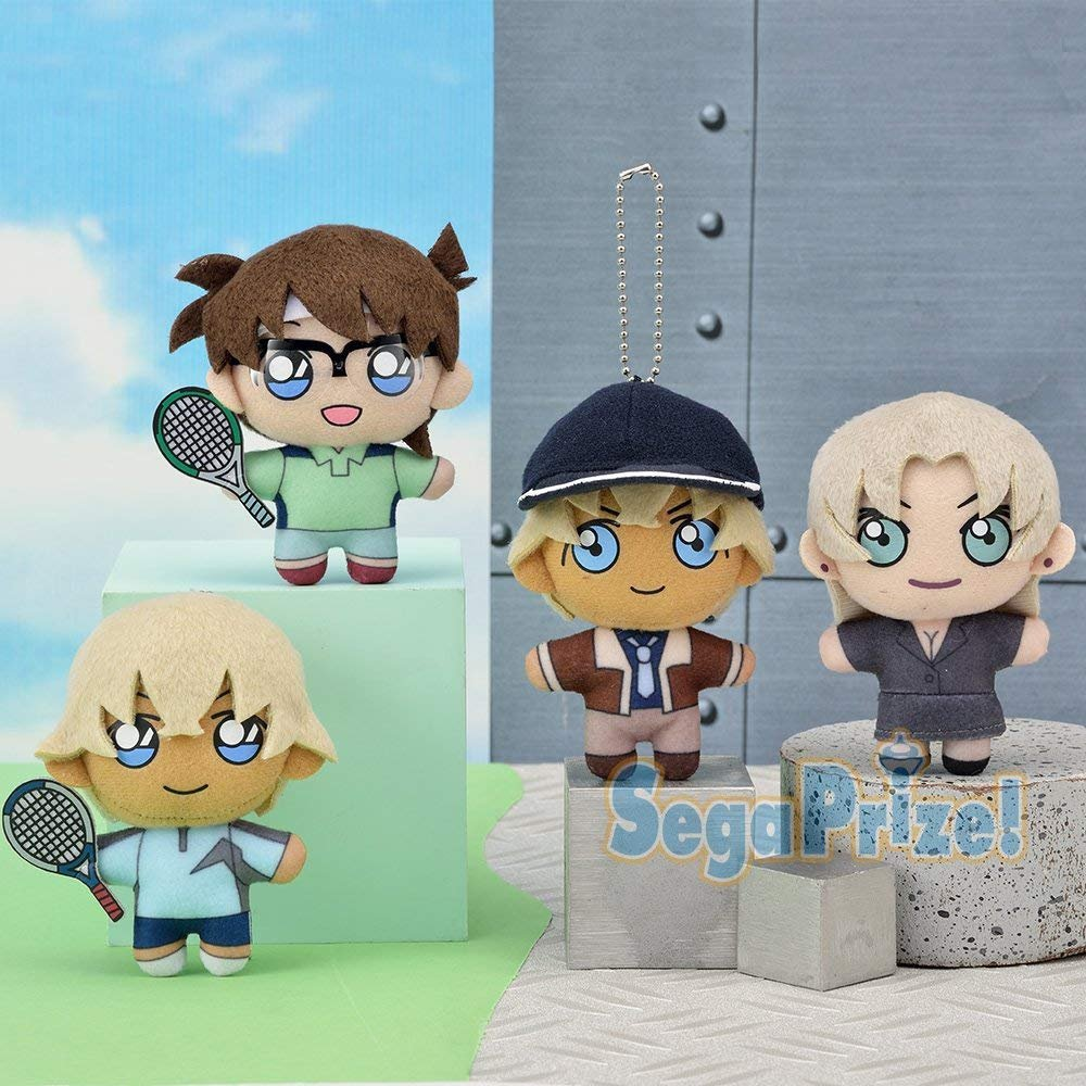 Detective Conan KCM Keychain mascot ''Conan & cheap rooms & Vermouth and Bourbon'' complete set of 4 by Sega