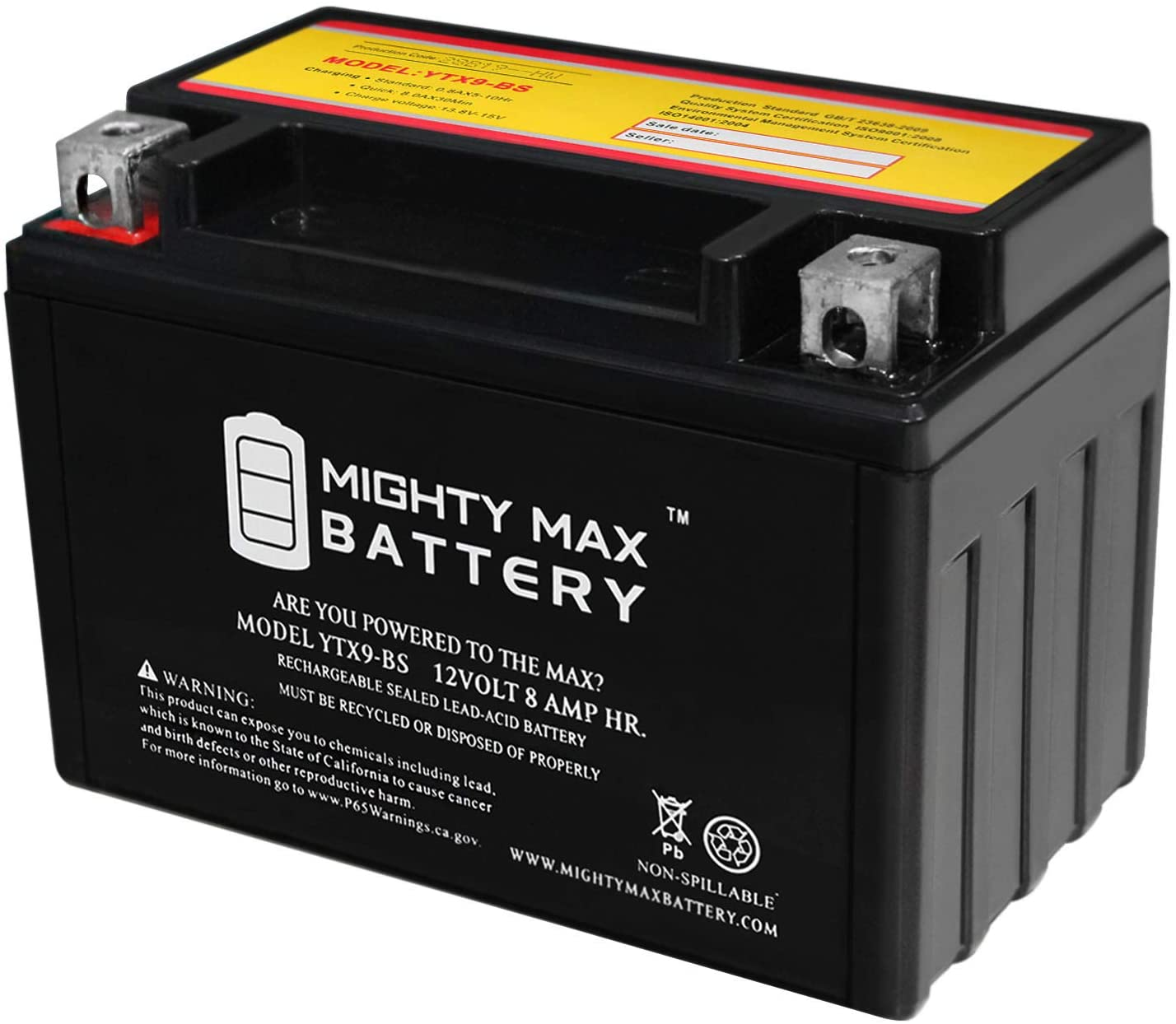 Mighty Max Battery YTX9-BS Replaces Go-Kart DAZON Karts Raider Classic 150 150CC All Years Brand Product