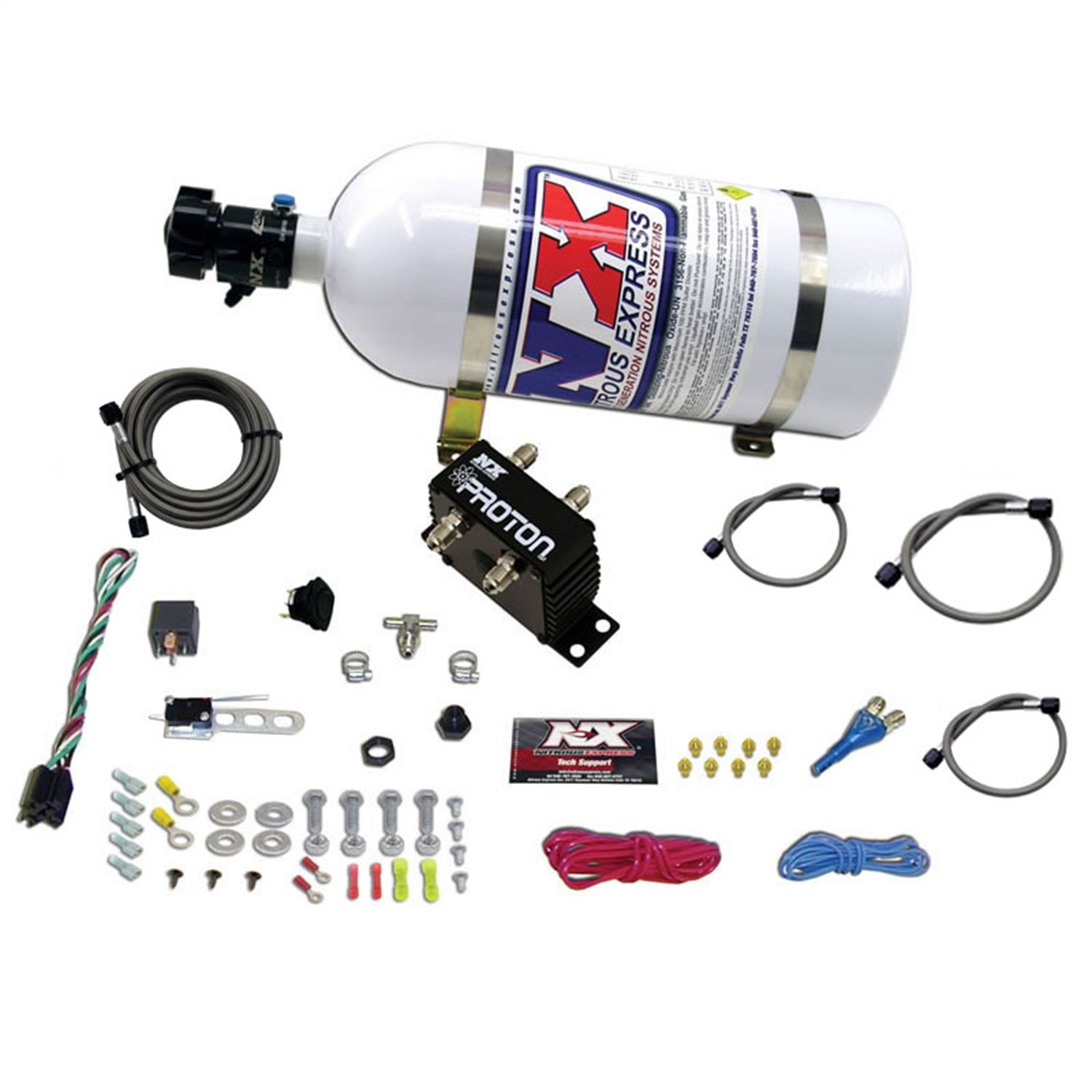 Nitrous Express 20421 10 Proton Plus System With Solenoid Wiring Diagram Lbs Bottle Automotive