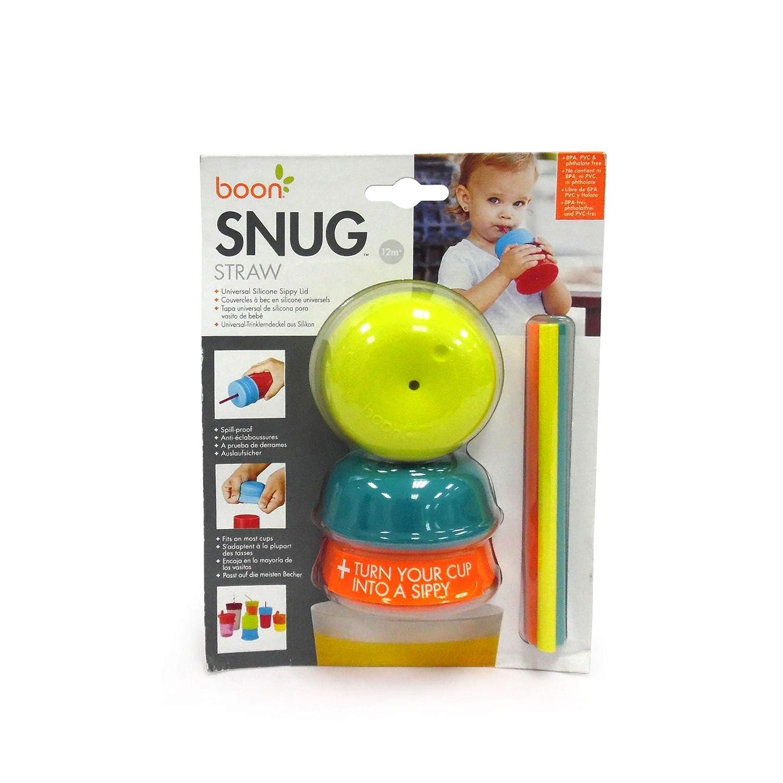 Boon B11149 SNUG STRAW Deckel /& Strohhalm 3er Pack Becher Snackbox Box f/ür Babys und Kinder ab 12 Monaten mehrfarbig