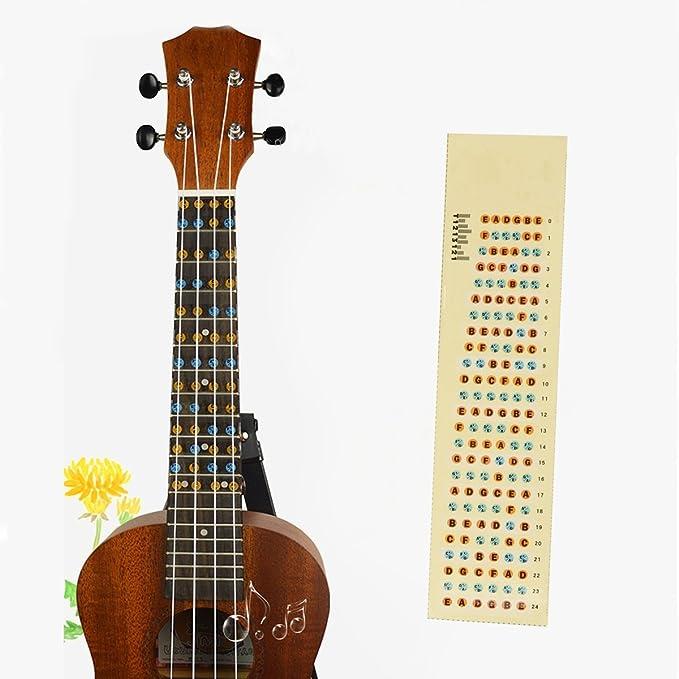 rosenice Gitarre Griffbrett Note Sticker Decals Griffbrett ...