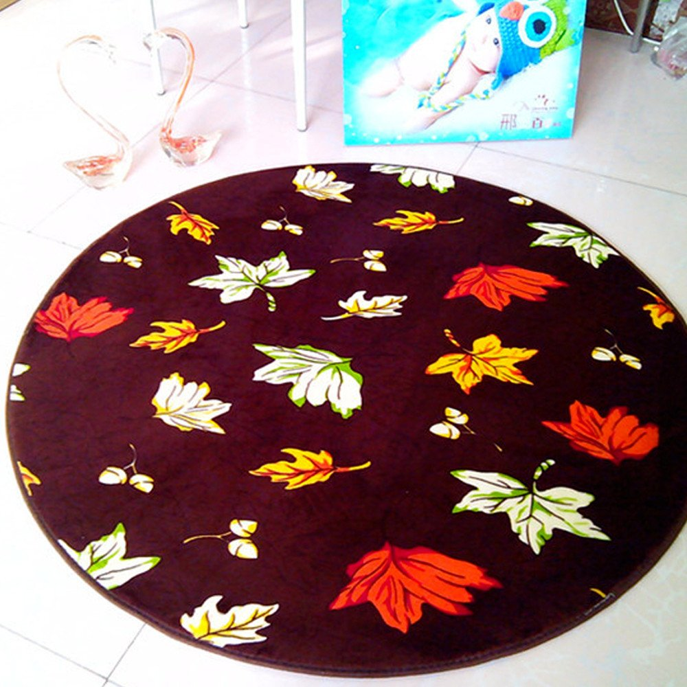 Area Rug,Elaco Round Rugs Anti-Skid Bathroom Area Rug Dining Room Home Bedroom Carpet Floor Mat (Q)