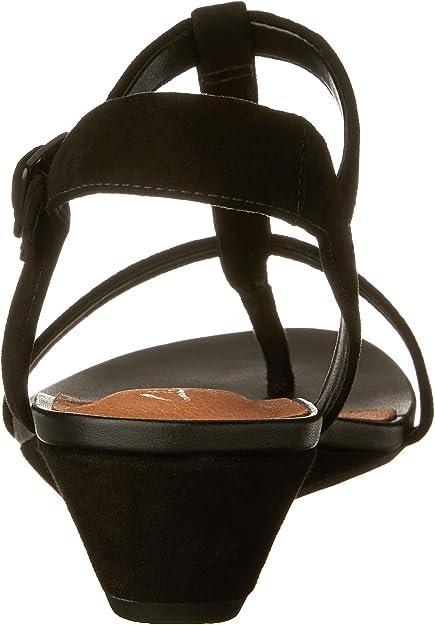 UK 5.5 EU 39 1709 Clarks Women Parram Blanc Wedge Heels Sandals Coral Suede