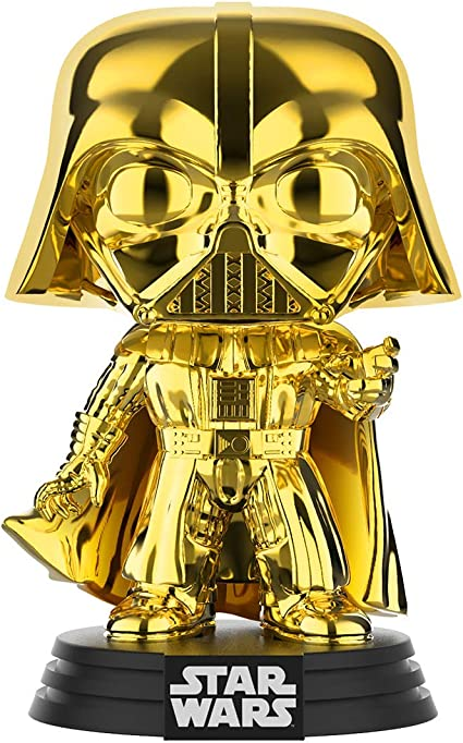 Darth Vader Funko Pop Gold Chrome Star Wars Galactic Convention  Exclusive