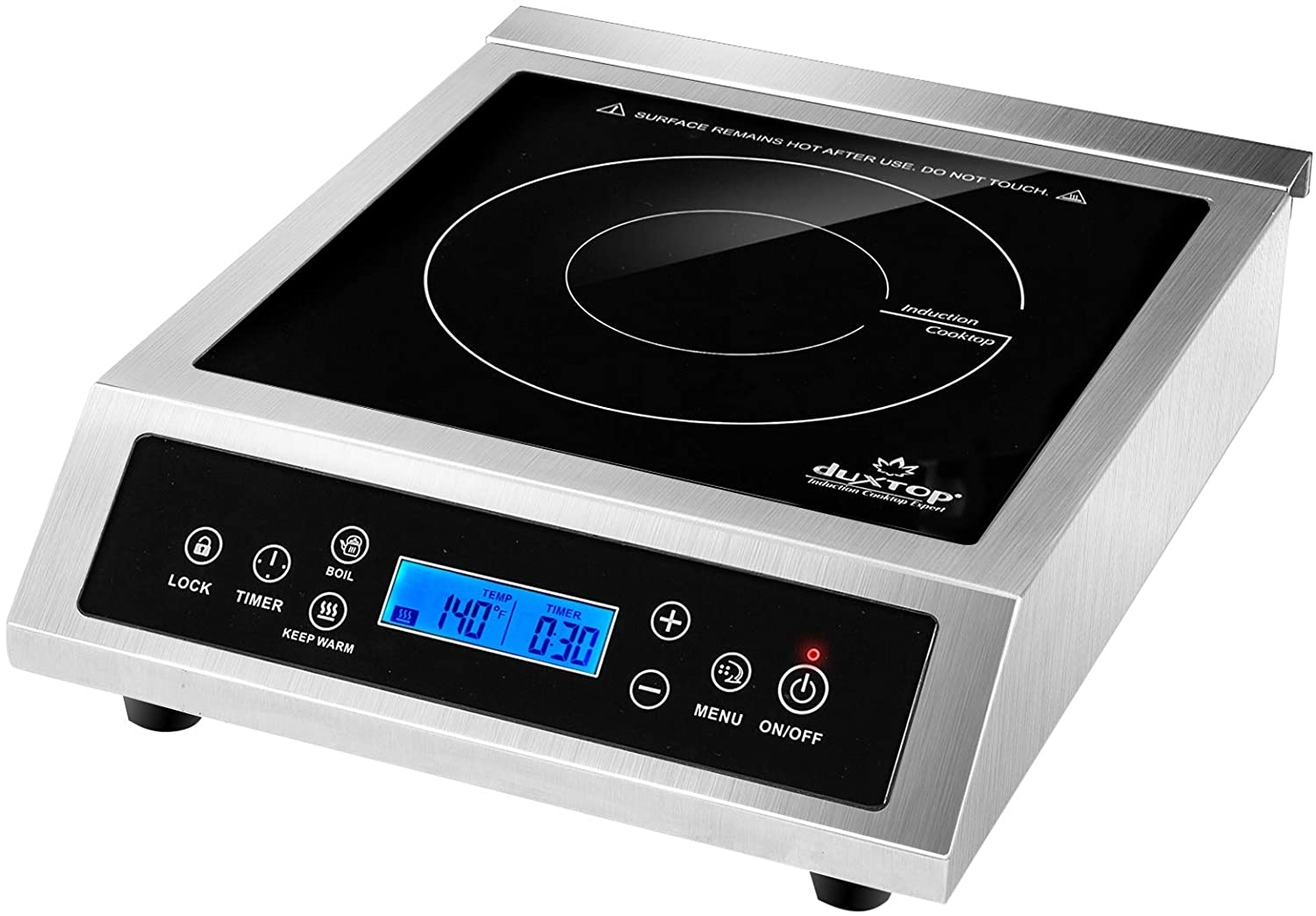 Duxtop Professional Portable Induction Cooktop, Commercial Range Countertop Burner, 1800 Watts Induction Burner with Sensor Touch and LCD Screen, P961LS/BT-C35-D