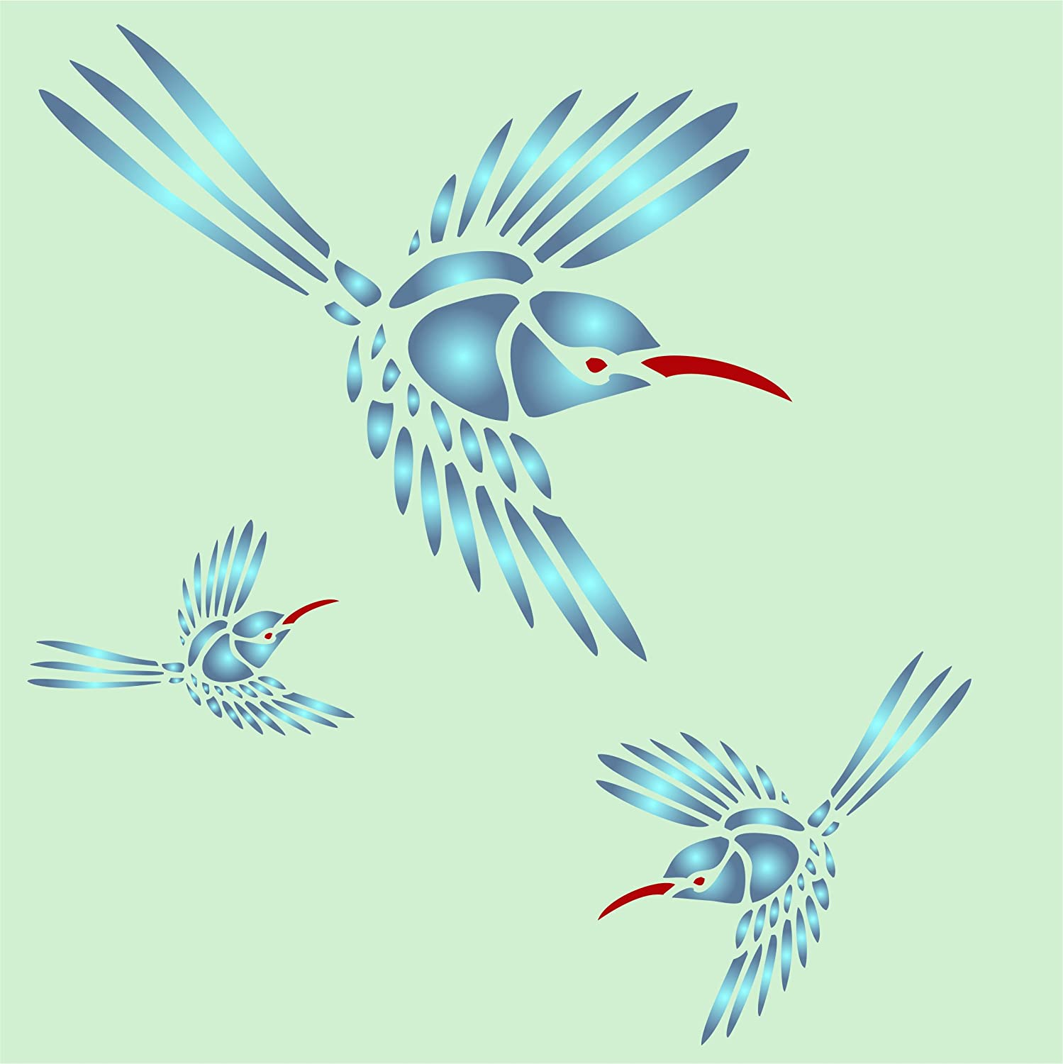 Amazon hummingbird stencil size 5w x 6h reusable wall amazon hummingbird stencil size 5w x 6h reusable wall stencils for painting best quality wall art dcor ideas use on walls floors fabrics amipublicfo Gallery