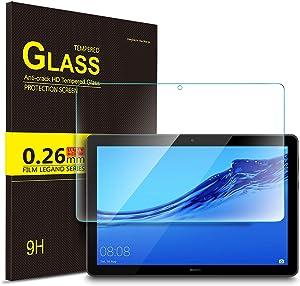 IVSO Templado Protector para Huawei MediaPad T5 10, Premium Cristal de Pantalla de Vidrio Templado para Huawei MediaPad T5 10 10.1 Pulgadas 2018, 1 Pack