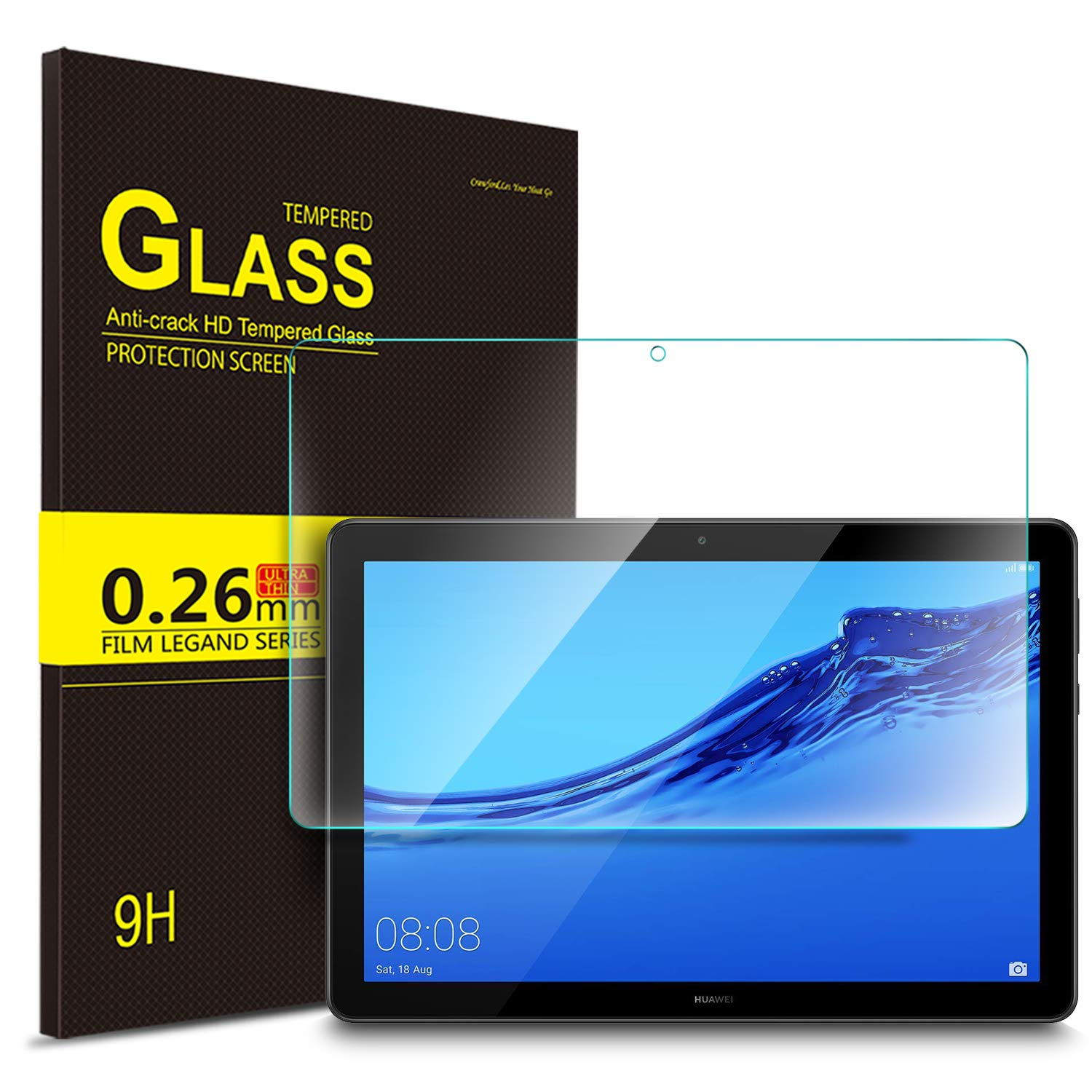 9H Hard Premium Tempered Glass Screen Protector For Huawei MediaPad T5 10.1