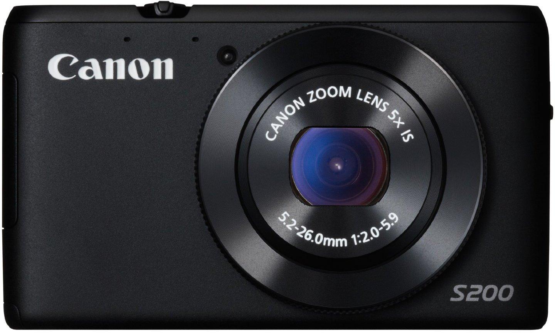 Canon PowerShot S200 - Digital camera - compact - 10.1 Mpix - 5 x optical zoom - Wi-Fi - black