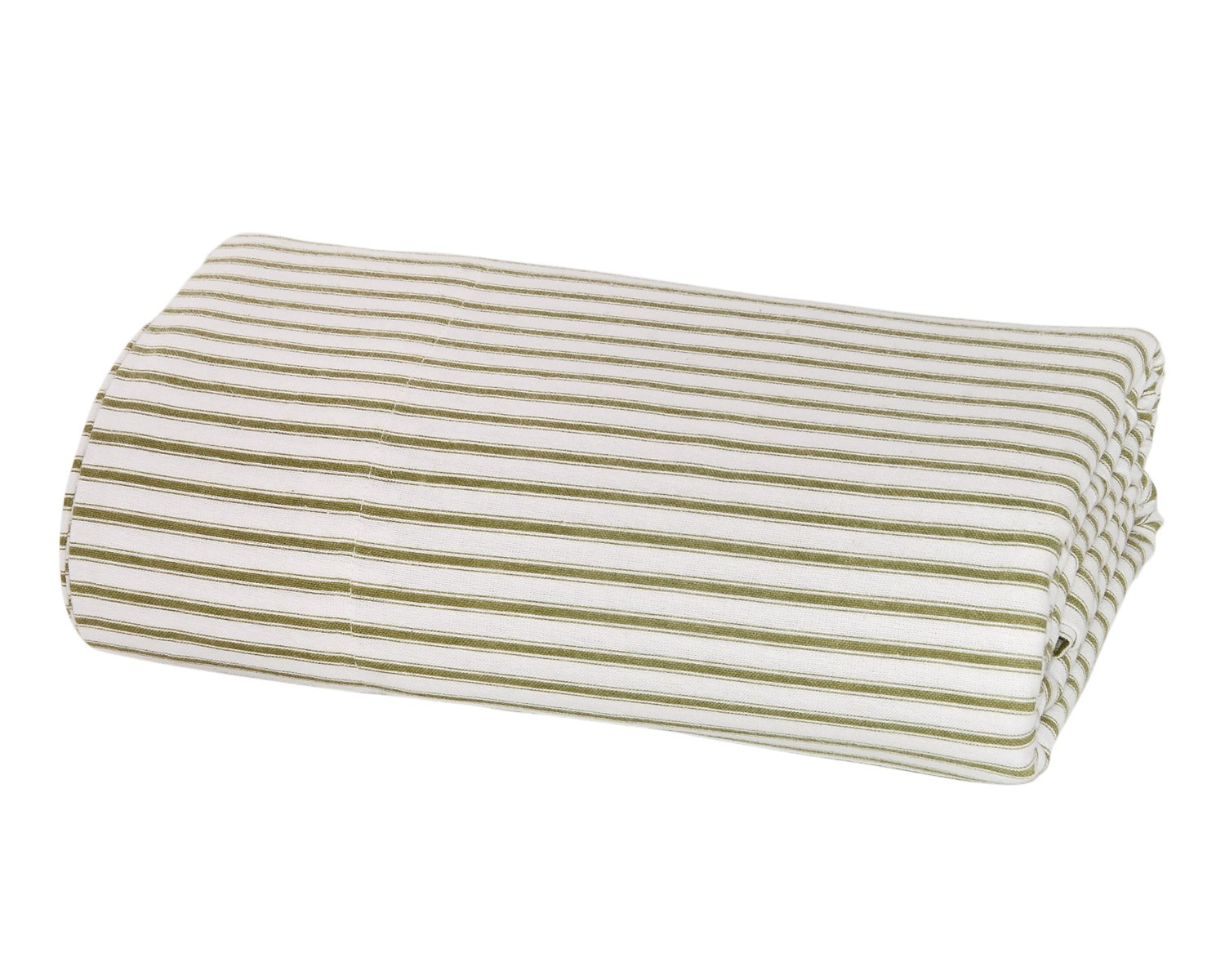 Full, Sage Stripe DELANNA Flannel Flat Sheet 100/% Brushed Cotton 1 Top Sheet Only 80x96