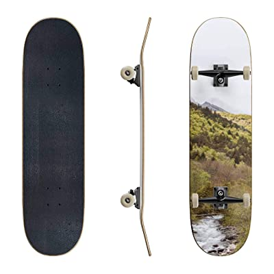 EFTOWEL Skateboards French Landscape les Ecrins Mountain Stock Pictures Royalty Free Classic Concave Skateboard Cool Stuff Teen Gifts Longboard Extreme Sports for Beginners and Professionals : Sports & Outdoors