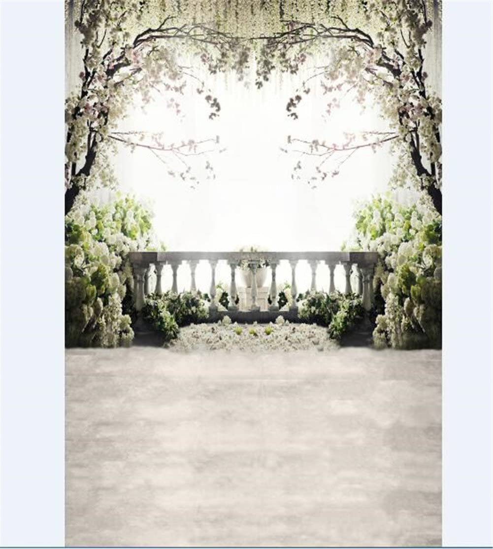 Photography Backdrop 5x7 White Flowers Tree Photography Background Arch Garden Backdrop for Photo Studio Customized