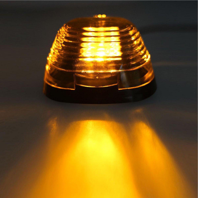 Amazon.com: Lente ahumada 16 LED ámbar cabina techo superior ...