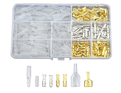 Amazon.com: WGCD 60 Kits 4mm Male and Female Bullet Terminals Wire ...