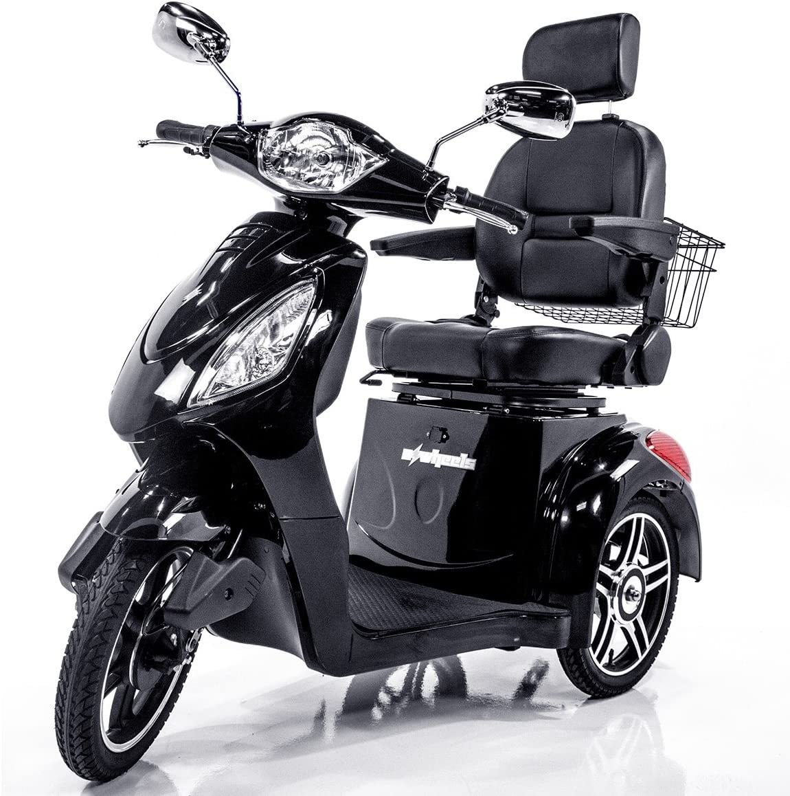 E-Wheels EW-36 High Power Fast 3 Wheel Mobility Scooter (Black): Health & Personal Care
