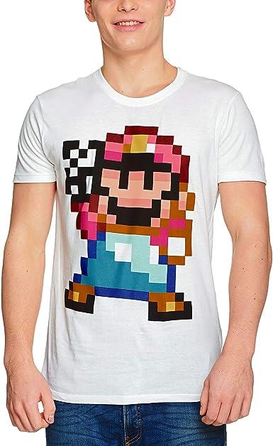 Super Mario Camiseta Hombre Peace 16bit Nintendo algodón Blanco ...