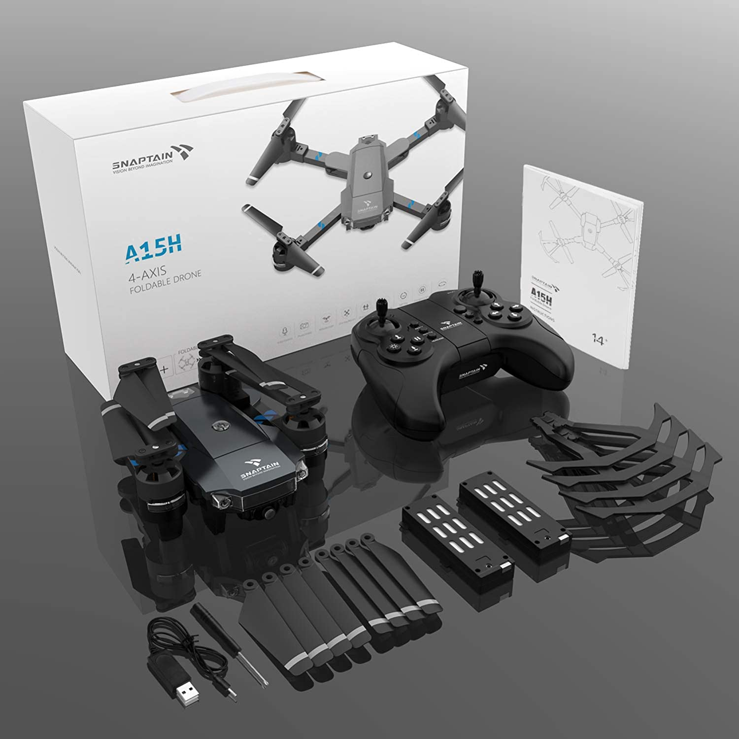 snaptain a15 foldable drone review and instruction to use