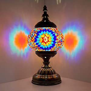 Marrakech Turkish Lamp Unique Vintage Stained Glass Moroccan Style Mosaic Table Light Room Decoration Art Decor Living Room lamp (8)