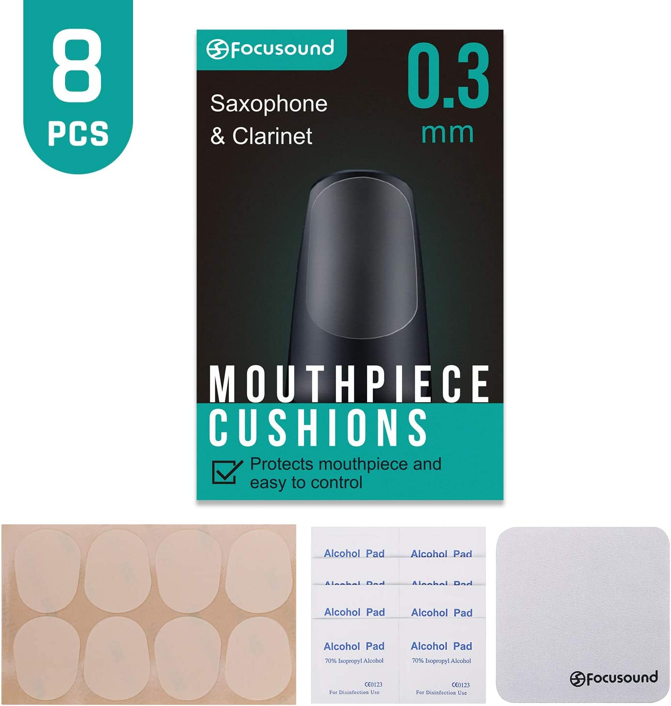 BG CLARINET /& SAXOPHONE MOUTHPIECE CUSHIONS CLEAR LARGE 0.4 mm thick A11L