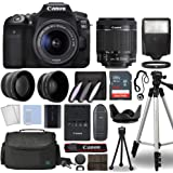 Canon EOS 90D Digital SLR Camera Body with Canon EF-S 18-55mm f/3.5-5.6 is STM Lens 3 Lens DSLR Kit Bundled with Complete Acc