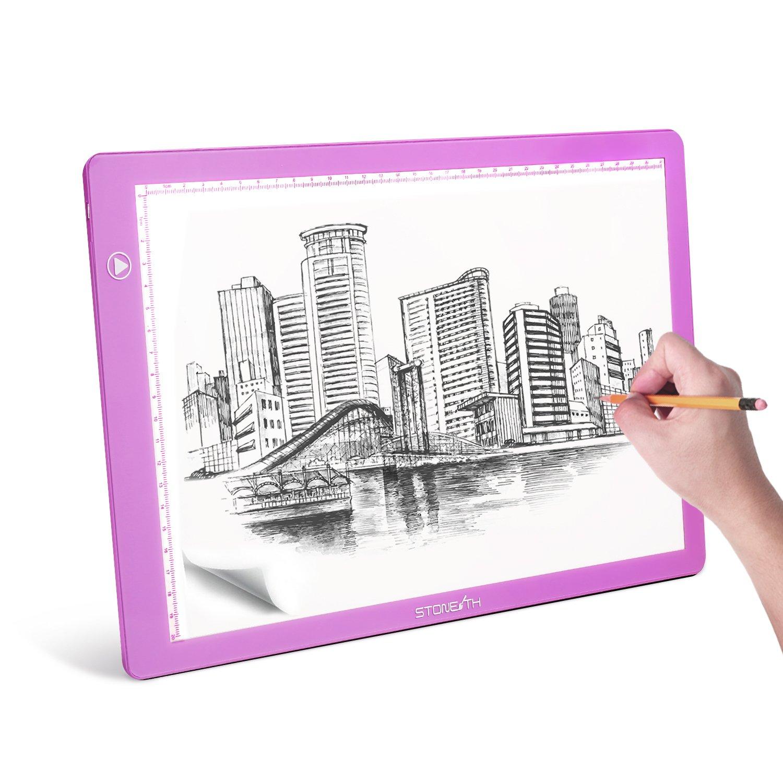 A4 LED Tavolette Disegno, Lightpad Scatola Luminosa LED con USB per Disegni, Animazione, Stencil Stone TH