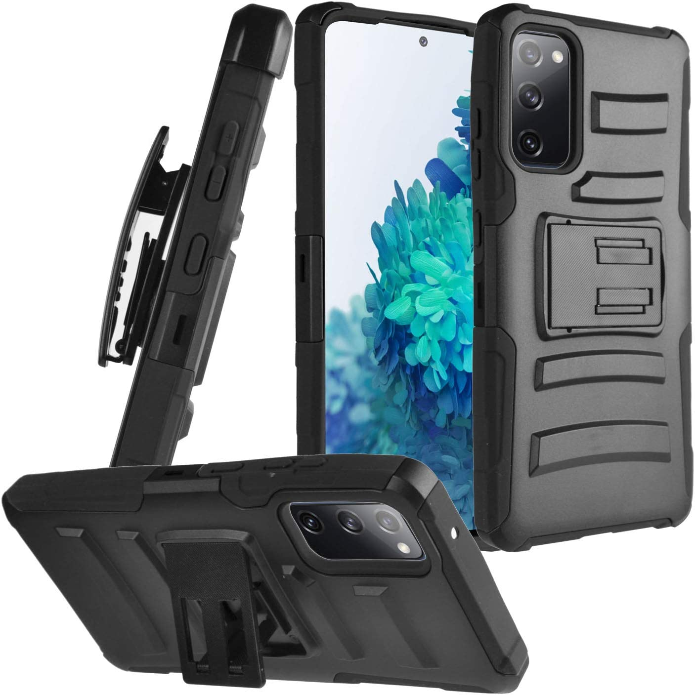 Black//Orange Aimoll-88 Galaxy S20 FE 5G Case with Screen Protector Heavy Duty Cover for Samsung S20 FE 5G Case Belt Clip Hybrid Shockproof Drop Protection Holster for Samsung Galaxy S20 FE 6.5 inch