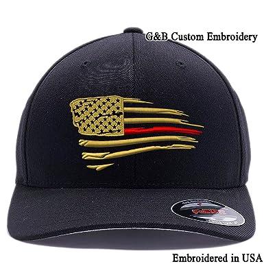799b5ff3 Amazon.com: G&B Thin Red Line. Firefigher Cap. Custom Hat ...