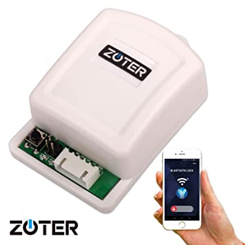 zoter wireless bluetooth controller electric door lock opener by smart mobile phone app control for access