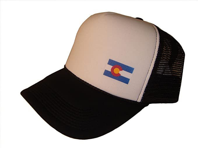 be6e88bb30eb9 Image Unavailable. Image not available for. Color  THS Colorado State Flag  Mesh Trucker Cap ...