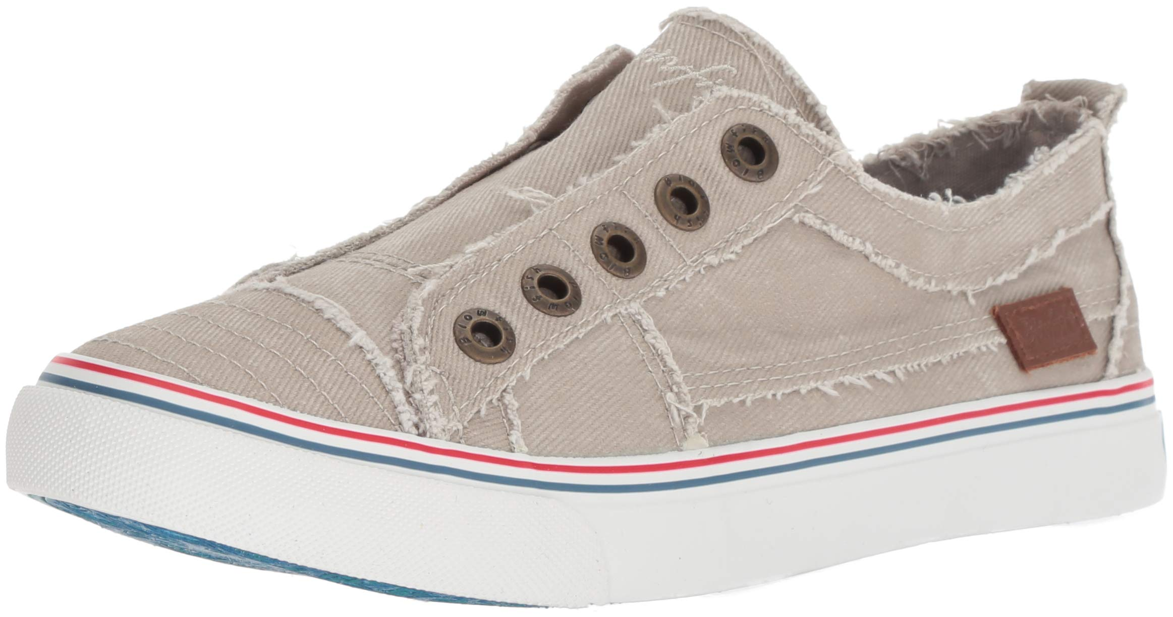 Blowfish Women's Play Sneaker, Birch Hipster Smoked Twill, 7.5 M US