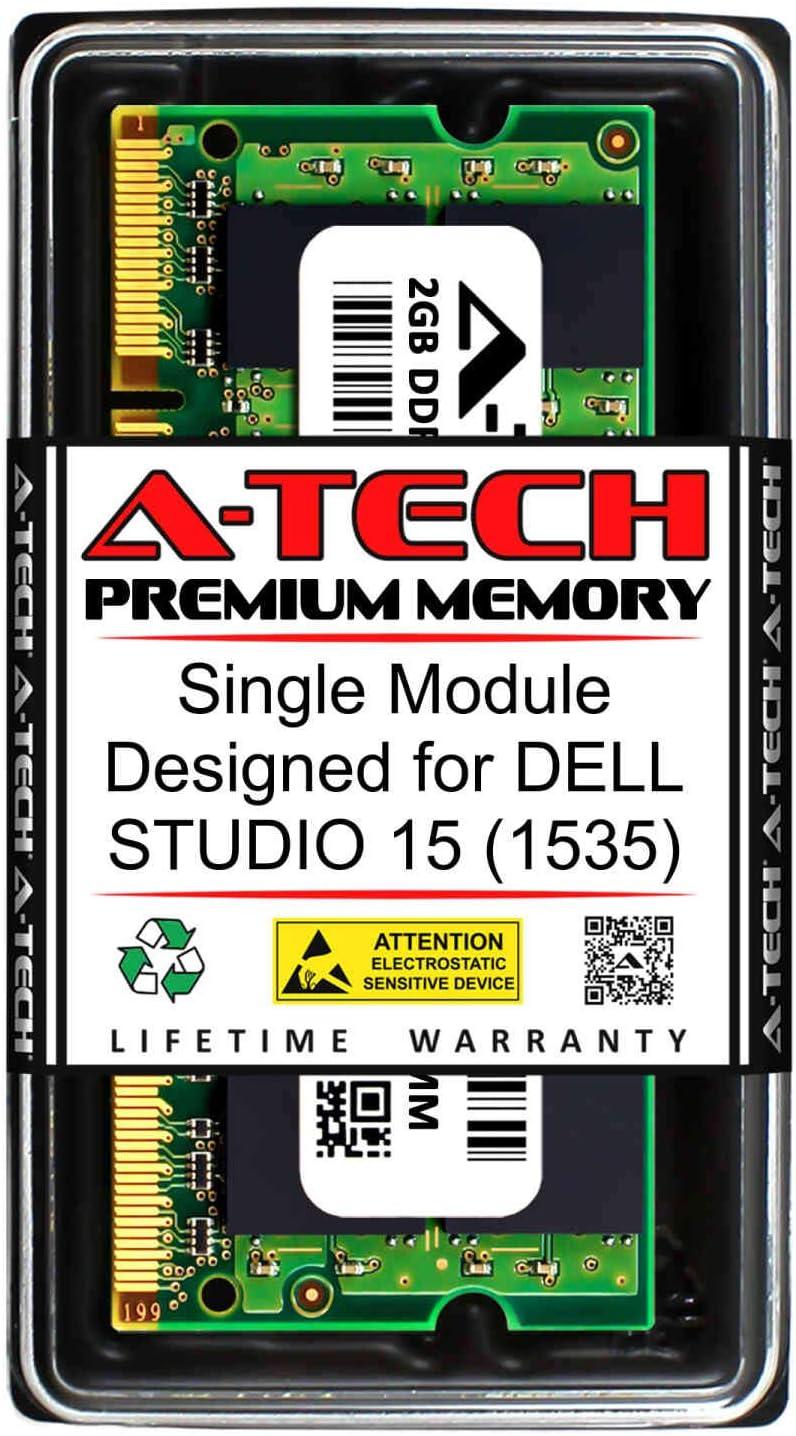 A-Tech 2GB RAM for DELL Studio 15 (1535) | DDR2 800MHz SODIMM PC2-6400 200-Pin Non-ECC Memory Upgrade Module