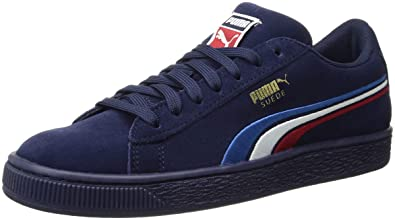 5f4bff18c2d276 PUMA Unisex Suede Classic Multicolor Emboss Kids Sneaker