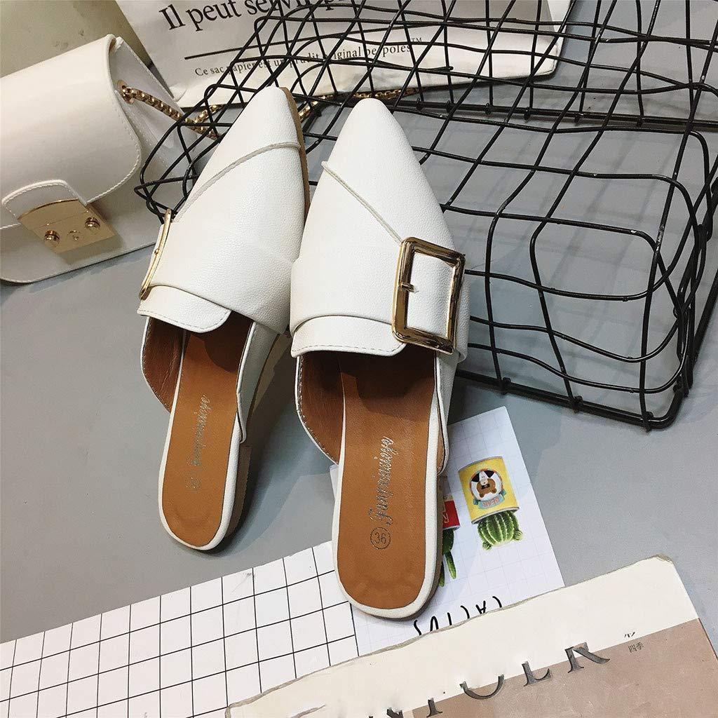 Btruely Zapatos de Mujer❤️Zapatos de Primavera con tacón Plano con Punta Plana Suave de Moda para Mujer Zapatos Solos Zapatillas Negro: Amazon.es: ...