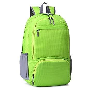 C-Xka Mochila Plegable Mochila Ultraligera, Unisex Durable práctico Mochila para Viajes y Deportes al Aire Libre Durable e Impermeable (Color : Green): ...