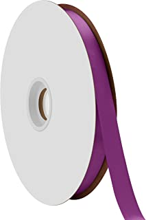 "product image for Offray Berwick 5/8"" Single Face Satin Ribbon, Purple, 100 Yds"