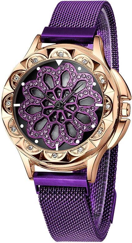 CIVO Relojes Mujer Reloj de Pulsera de Señoras Magnético ...