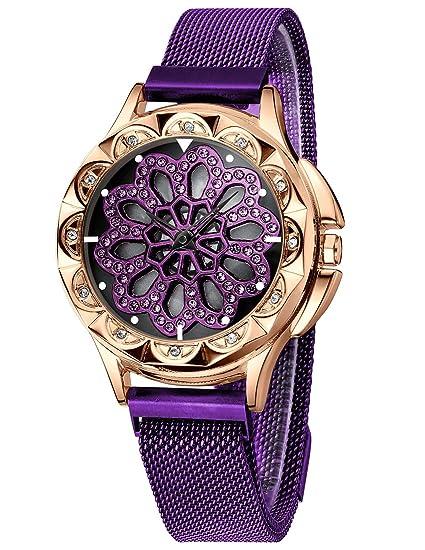 CIVO Relojes Mujer Reloj de Pulsera de Señoras Magnético Cinturón ...
