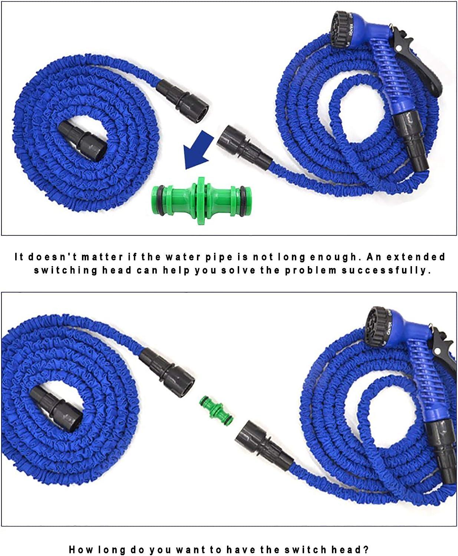 CaLeQi Juego de 9 conectores de manguera para manguera de jardín con conector doble macho, 6 mangueras de 1,27 cm de extremo rápido, 1 conector de ...