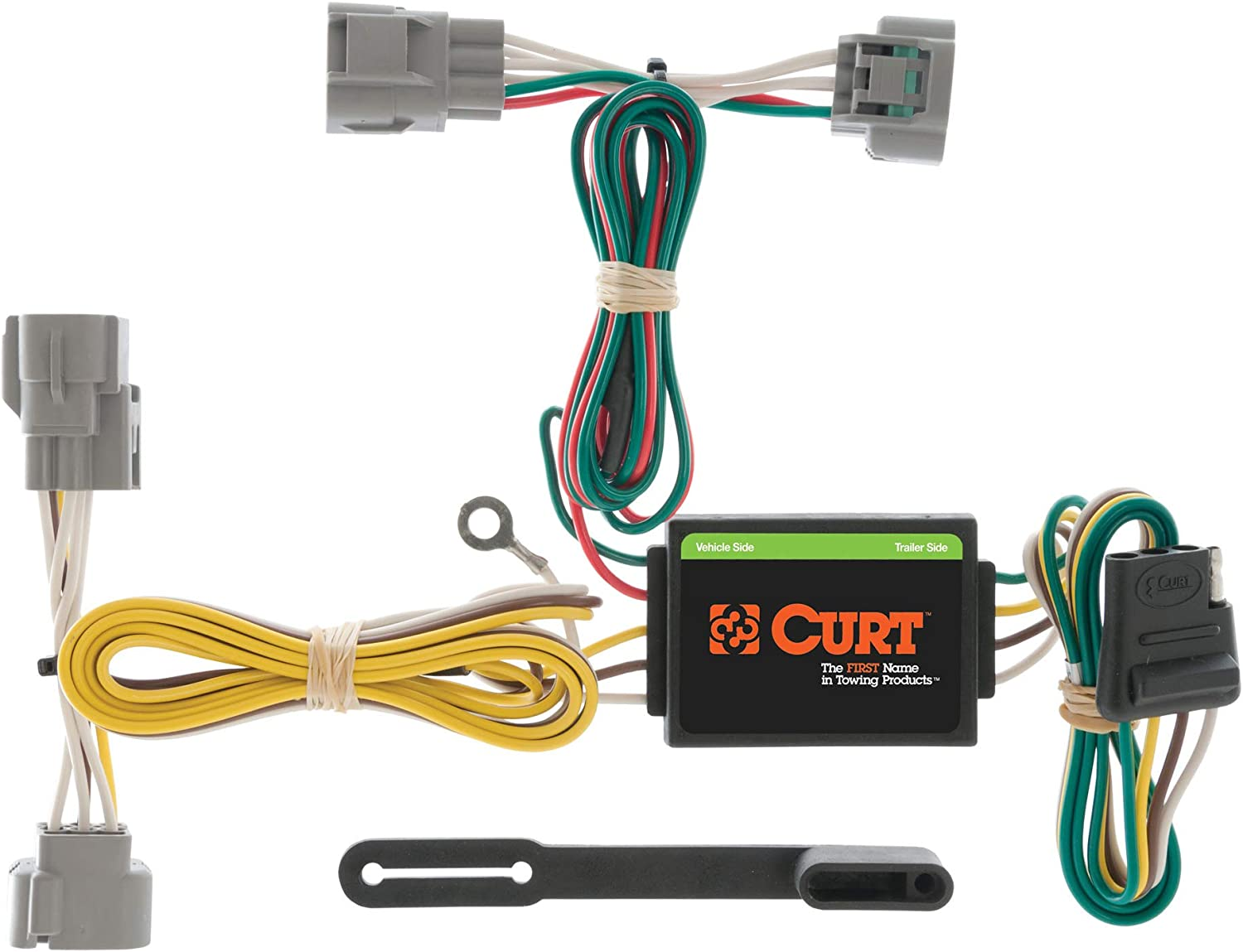 amazon.com: curt 55513 vehicle-side custom 4-pin trailer wiring harness,  select toyota tacoma, t100, hilux , black: automotive  amazon.com