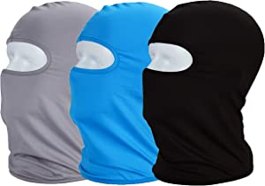 MAYOUTH Balaclava ski mask Sun/uv Protection Windproof face Cloth Neck Gaiter Helmet Lining Landscaping Face Cover Lycra Motorcycle face mask Cycle Fishing Hiking Outdoor Sports 3pack