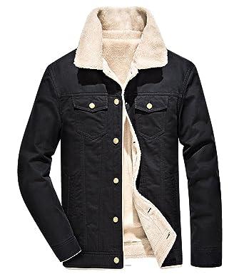 54283e7f2d3 Wintie Men s Slim Fit Faux-Shearling Fur Lined Sherpa Trucker Jackets at  Amazon Men s Clothing store