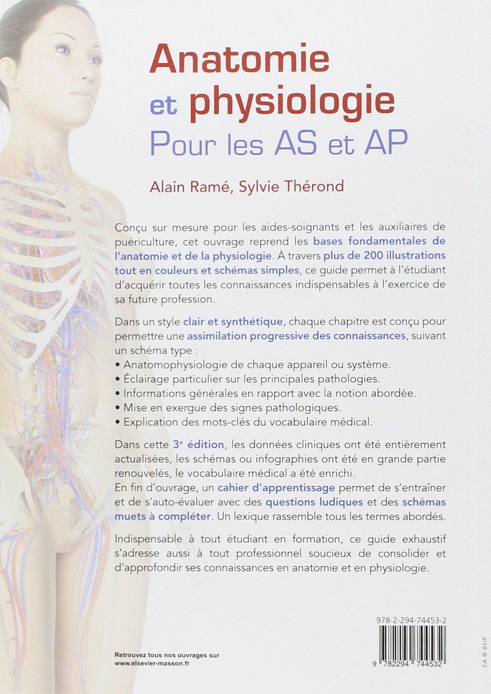 Amazon.fr - Anatomie et physiologie pour les AS et AP: Avec cahier d ...