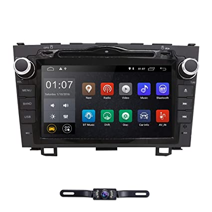 hizpo Android 9 0 Car Radio for Honda CRV CR-V 2007 2008 2009 2010 2011 8  inch DVD Player WiFi GPS Navigation Stereo Bluetooth + Camera