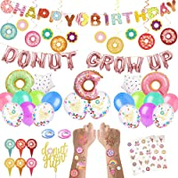 CNsoyee 60 Pcs Donut Grow Up Party Decoration Kit-Doughnut Birthday Party decoration set Party Supply Party Favor Pack…