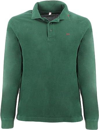 Sun 68 2710137 - Polo Vintage para Hombre Verde L: Amazon.es: Ropa ...