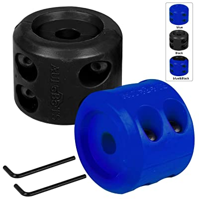 AUTOBOTS Rubber Winch Cable Hook Stopper 2Pcs - Waterproof Durable Winch Rope Line Saver with Allen Wrench for ATV UTV Winches, Blue Black: Automotive