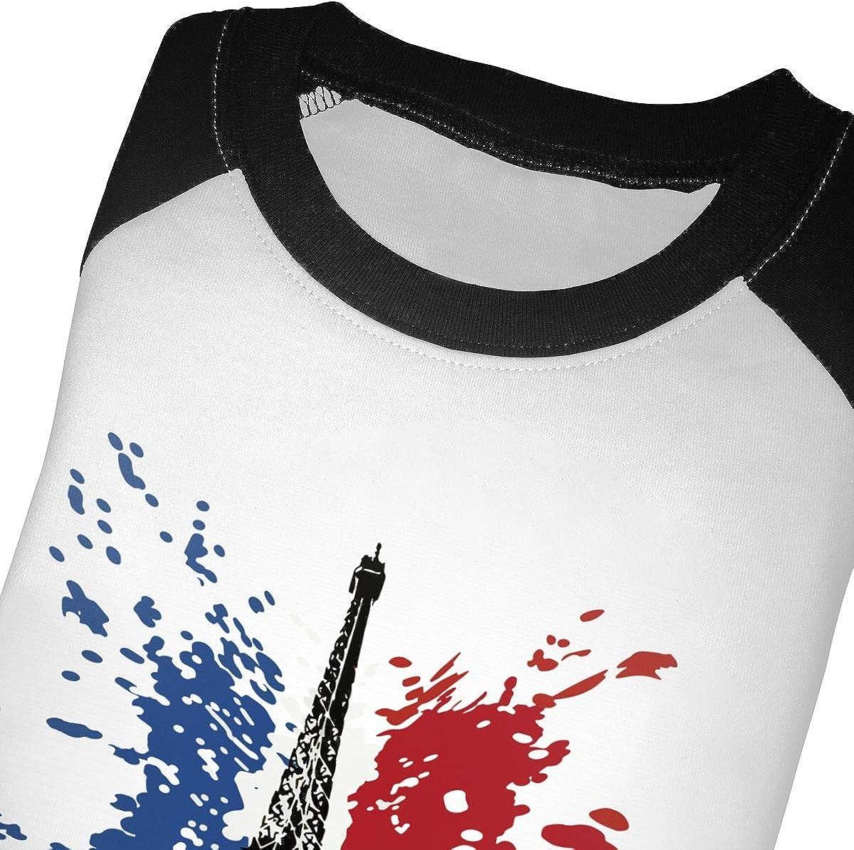 QPKMRTZTX0 Boys Girls Kids /& Toddler France Flag Long Sleeve Tees 100/% Cotton
