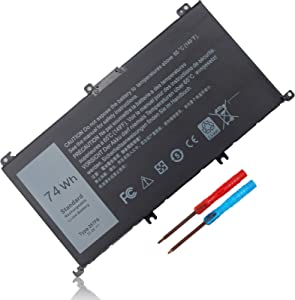 Yongerwy 74WH 357F9 Battery For Dell Inspiron 15 7000 7559 7557 7567 7566 7759 15 5576 5577 INS15PD Series Dell NS15-7566-D1745R INS15-7566-D1645B INS15-7566-D1545B 0GFJ6 71JF4 P57F P57F003 P65F P65F0