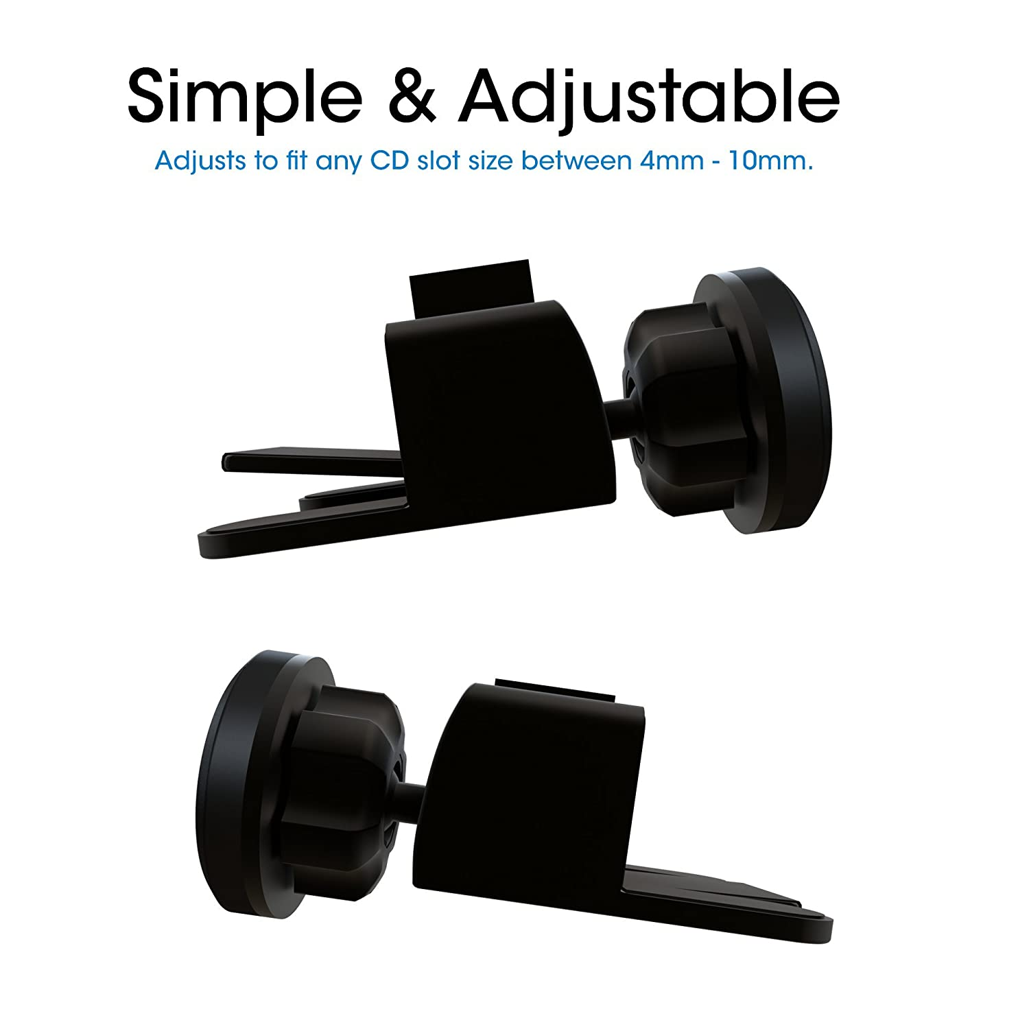 TechMatte MagGrip Universal Magnetic CD Slot Mini Car Mount with Extra Strong Magnetic Grip 1 Pack LYSB01E86ONW2-ELECTRNCS