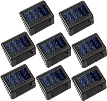 8 X Luz Solar Jardin Luces Guia Exterior 3 LED Focos Solares Impermeable Ideal para Escaleras,Cubierta, Terraza, Muelle, Entrada, Valla o Patio: Amazon.es: Iluminación